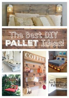 The BEST DIY Wood Pallet Ideas! Diy Pallet Projects, Wood Projects, Pallet Crafts, Craft Projects, Vaping, Cool Diy, Home Design, Design Design, Design Ideas