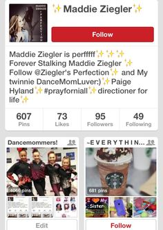 Go follow Maddie Ziegler!!! She post amazing pictures! Every fans of Maddie should follow here, without exceptions! Get her to 100 followers!