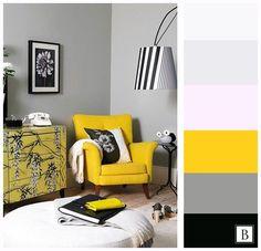 #palette #b_design #color #design #interior #палитра #цвет #цветовая_гамма #интерьер #дизайн #желтый #серый #комната #гостиная #спальня #bedroom #livingroom #room #yellow #white #black