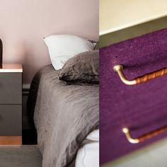 Sängbord – Malm från IKEA med topp och fronter från Picky Living