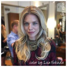 AnnaLynne McCord hair Balayage Blonde Highlights Color by LisaFukuda & Jeannette @haircolorbylisa Styled by Maritza  @JosephCozzaSalon SF CA     1 415 433 3030 natural beachy soft haircolor olaplex Kerestase glaze San Francisco