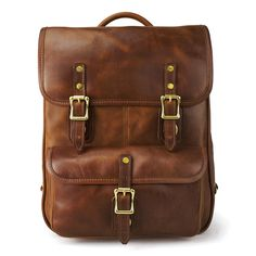 Brown Leather Continental Luxury Backpack