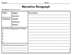 graphic organizer for narrative writing