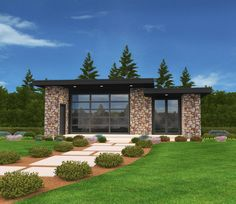 Exclusive Micro Modern House Plan Open Floor Plan - 85138MS   1st Floor Master Suite, CAD Available, Exclusive, Modern, Northwest, PDF   Architectural Designs