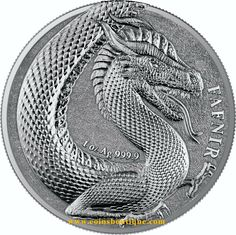 Germania Beasts Fafnir 1 oz silver round BU Germania 2020 with COA Tragic Love Stories, Legendary Dragons, Coin Design, Dragon Images, One Coin, Mint Coins, Rare Coins, Silver Bars, Silver Rounds
