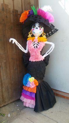 Halloween Skeletons, Harajuku, Children, Style, Day Of Dead Makeup, Mini Pinatas, The Creation, Fiestas, Manualidades
