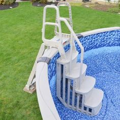 Main Access Above Ground Swimming Pool Entry Smart Step/Ladder Steps : Target Above Ground Pool Steps, Above Ground Pool Ladders, Above Ground Pool Landscaping, Backyard Pool Landscaping, Above Ground Swimming Pools, In Ground Pools, Landscaping Ideas, Rectangle Above Ground Pool, Backyard Gazebo