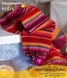 Garantiert glitzernd wird Ihr Auftritt mit diesen Socken! Das Highlight sind die eingearbeiteten Kettchen aus Perlen, die Ihre Fesseln zum Strahlen bringen. Die Farbe Crazy Chris der #Regia 4-fädig Color sorgt dabei für weihnachtliche Stimmung.