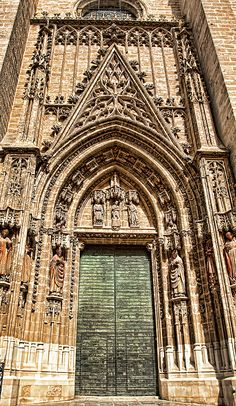 Seville Cathedral Door, Spain by Tatiana Travelways #spain #sevilla #cathedral #art