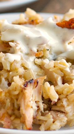 Chicken and Rice Casserole ~ This stuff is delicious!