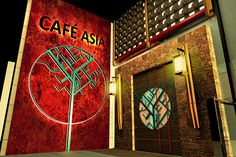RESTAURANT DESIGN - CAFE ASIA on Behance