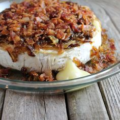 Brie w:Carmelized Onions and Bacon CU