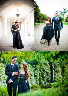Romantic engagement shoot Balboa Park San Diego