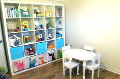 Organized playroom    #organizedkids