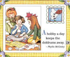 Hobby A Day Keeps Doldrums Away Paper Dolls Fridge Magnet Mary Engelbreit Art | eBay
