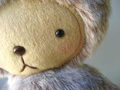 LAST ONE Kawaii Teddy Bear Plushie in Gray Beaver Faux Fur Large ASTER. $30.00, via Etsy.