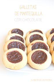 El rincón de los postres: Galletas de Mantequilla con Chocolate