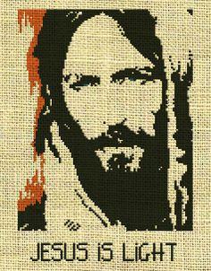 Jesus, Cross stitch pattern  https://www.etsy.com/listing/165457179/birdhummingbirdanimal-counted-cross?ref=shop_home_active