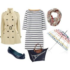 Rainy day - Summer 2 by minime80 on Polyvore featuring Burberry, Longchamp, Totes and Fat Face