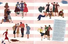 Illustration by Guillermo Bolin, Vogue, August 15, 1938