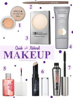 Quick and Natural Makeup - Get out the door quickly! Great for busy moms and women. ModernMommyhood.com