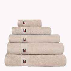 Beige Tommy Hilfiger Bathing Towel