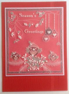 Parchment Cards, Xmas, Christmas Ideas, Hobbies And Crafts, Diamond Earrings, Card Crafts, Card Designs, Crochet, Clarity