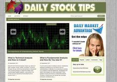 Daily Stock Information & Tips Established Business Website For Sale Wordpress