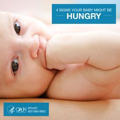 Not sure when baby needs to eat? Don't worry! You'll get familiar with your baby's hunger cues in no time! Lactating Mother, Health Tips, Women's Health, After Giving Birth, Baby Birth, Baby Needs, Baby Care, New Moms, Breastfeeding