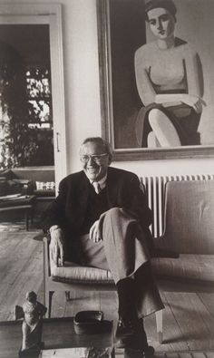 Finn Juhl 1982 in his villa in Charlottenlund (Northern Copenhagen)