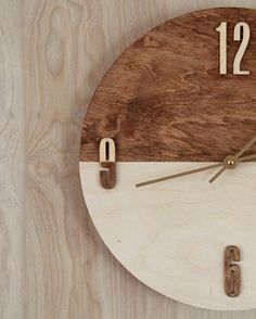 DIY Style How To Make A DIY Stained Plywood Wall Clock by Kristina J.
