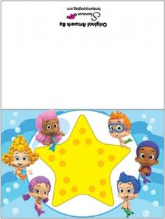 {Free} Printable Bubble Guppies Card