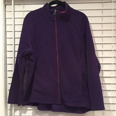Lands End Plus Size Fleece - Lightly Used Extremely comfortable polar fleece from Lands End. Full zipper front, two slit pockets and a high-low silhouette. Can be worn as a layering piece or on it's own and will be perfect for many seasons! Lands' End Jackets & Coats