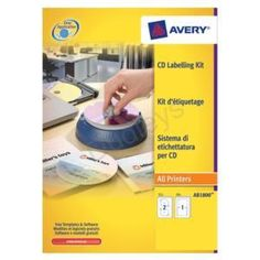Avery afterBURNER Label System Software with Applicator 10 Inserts and 24 Labels