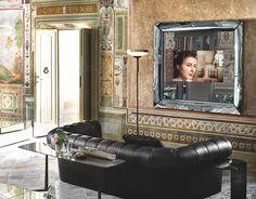 Caadre Tv, Fiam Italia, design: Philippe Starck, polish agent of Fiam Italia: www.alicjabarcicka.pl #mirror #specchio #lustro #designmirror #vetro #fiam #fiamitalia #interiordesign