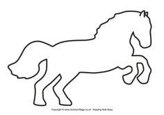 Horse template 3