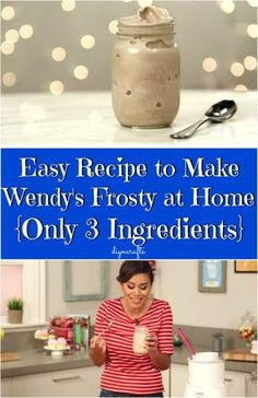 Easy Recipe to Make Wendy's Frosty at Home {Only 3 Ingredients}