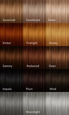 list of hair colors - Google Search