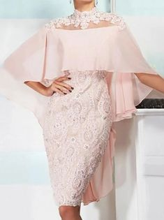 Fourreau / Colonne Robe de Mère de Mariée Elégant Bateau Neck Mi-long Satin Manches 3/4 avec Plissé Fleur 2020 de 2021 ? US $132.99 Mother Of The Bride Gown, Lace Skirt, Lace Chiffon, Half Sleeves, Elegant Dresses, Dresses Online, Fashion Dresses, Clothes, Appliques