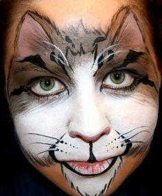 Gorgeous #facepaint cat