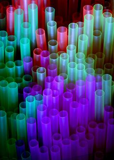 Straws-idea for etched glass tubes illuminated with led's