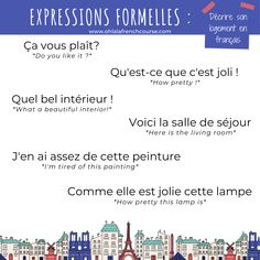 Describe your accommodation in French French Expressions, Online French Courses, Online Courses, French Phrases, French Words, French Teacher, Teaching French, How To Speak French, Learn French