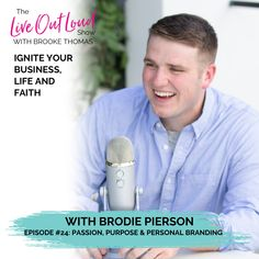 On this episode of The Live Out Loud Show, Brodie Pierson joins me to explain how his photography helps people step into their power and build an effective personal brand! He describes how he overcame his family's expectations to pursue his true purpose as a brand photographer, challenging us to show up for what we want—and keep showing up EVEN WHEN people criticize our choices!