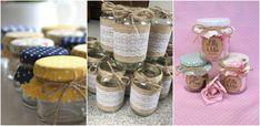 Fie ca folositi panza de iuta sau materiale textile colorate, putem decora borcanele de dulceata in diferite moduri creative si frumoase: