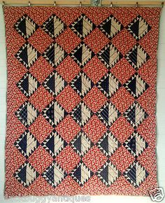 Vintage-30s-PATCHWORK-Quilt-RARE-Grandmothers-Flower-Garden-Cheater-Cloth-Back