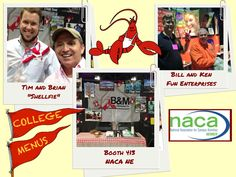 The Fresh Lobster at NACA NE - National Association of Campus Activities.  - college catering naca