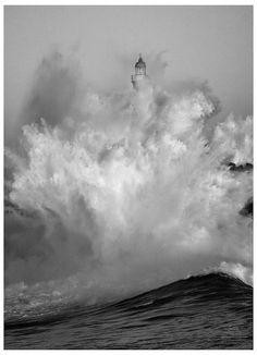 Isla de Mouro en un temporal #Santander Cantabria, Spain