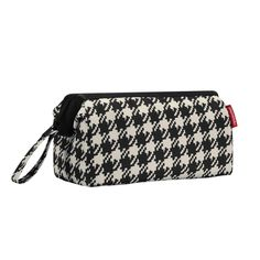 Houndstooth Fifties Black Reisenthel Travel Cosmetics Bag. -- You can find more details here : Travel cosmetic bag