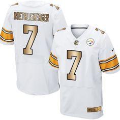 Nike Steelers  7 Ben Roethlisberger White Men s Stitched NFL Elite Gold Jersey  Pittsburgh Steelers Jerseys d5dd2e717