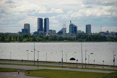 A view to Tallinn's modern city centre
